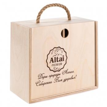 """Подарочный набор меда """"Altai PREMIUM-4"""" таежный, горный, дягилевый, кедровый орех"""