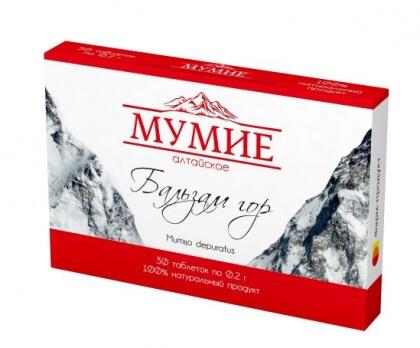 """Мумие Алтайское очищенное """"Бальзам гор"""", 30 таблеток"""