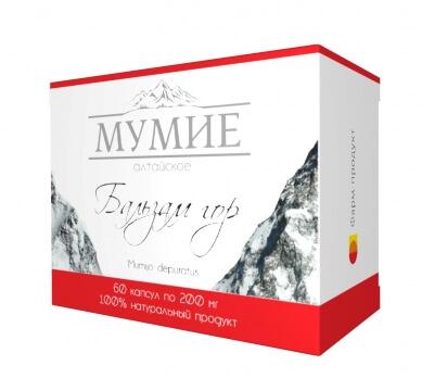 """Мумие Алтайское очищенное """"Бальзам гор"""", 60 капсул"""