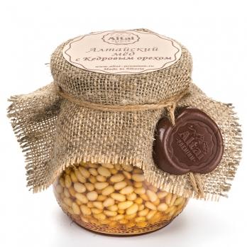 Алтайский мед с Кедровым орехом, 500 г
