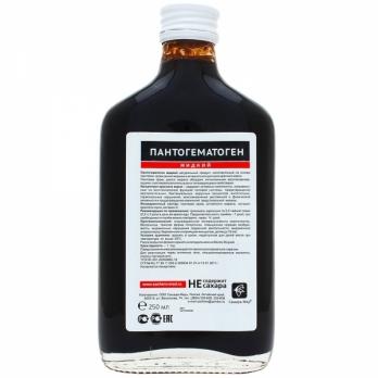 Пантогематоген жидкий из пантовой крови дикого марала, 250 мл